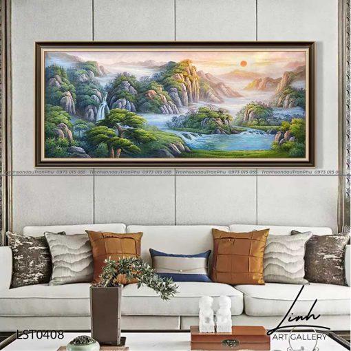 tranh son thuy 406 510x510 - Tranh Sơn Thuỷ - LST0408