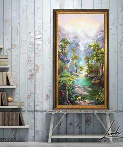 tranh son thuy 76 247x296 - Tranh Sơn Thuỷ - LST0077