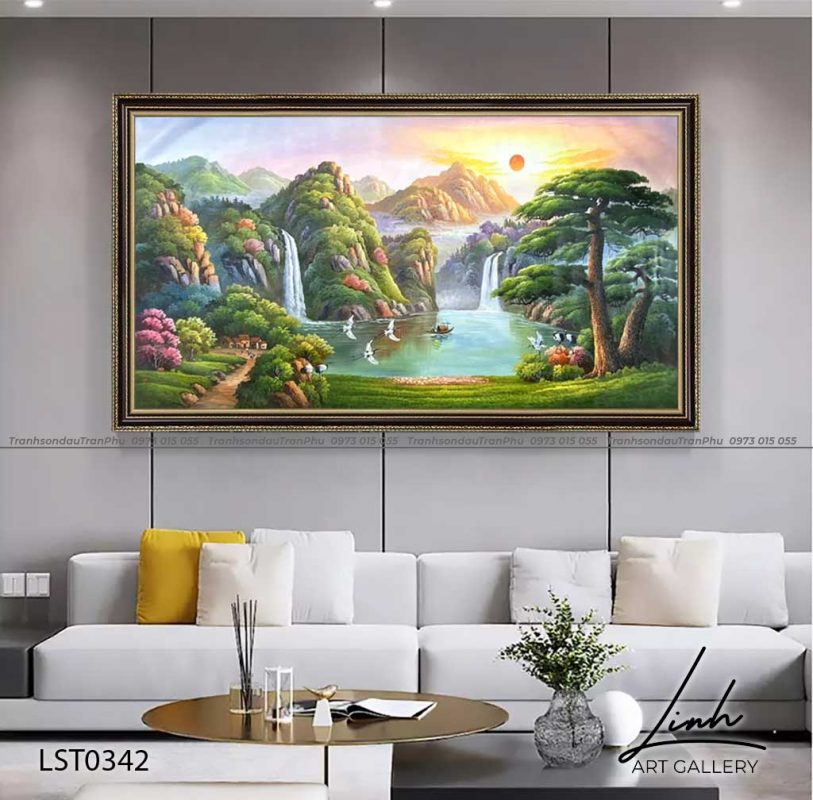 tranh son thuy huu tinh 5 2 813x800 - Tranh Sơn Thuỷ - LST0406