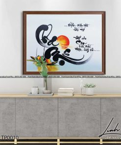 tranh thu phap chu cha me 2 247x296 - Tranh Thư Pháp Chữ Cha Mẹ - LTP0010