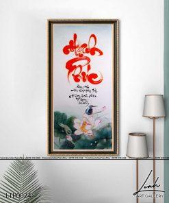 tranh thu phap chu hanh phuc 1 247x296 - Tranh Thư Pháp Chữ Hạnh Phúc - LTP0124