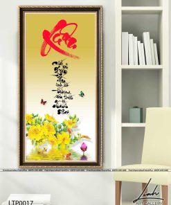tranh thu phap chu xuan 2 247x296 - Tranh Thư Pháp Chữ Xuân -  LTP0017