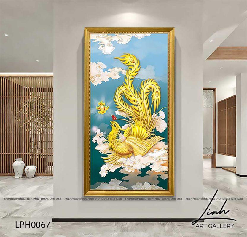 y nghia tranh phuong hoang 6 833x800 - Tranh Phượng Hoàng Hoa Mẫu Đơn - LPH0112